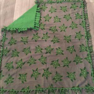 Handmade fleece blanket